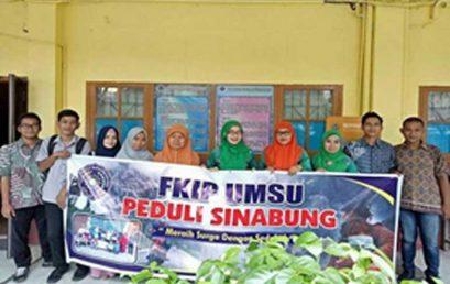 Mahasiswa FKIP UMSU Peduli Sinabung